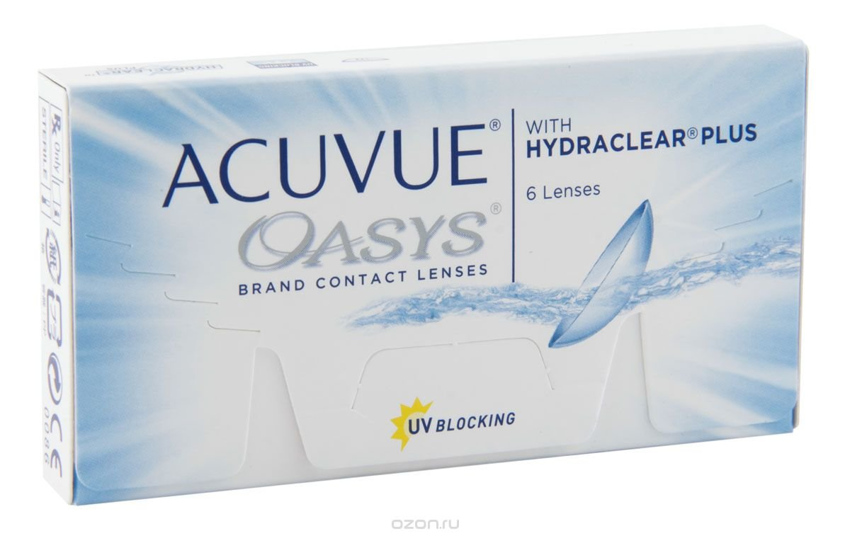 Johnson & Johnson контактные линзы Acuvue Oasys (6шт / 8.4 / -2.75)