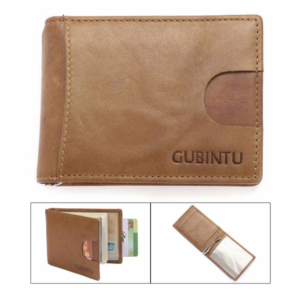 Кошелек-кредитница GUBINTU с защитой RFID (модель Money Clip черный)