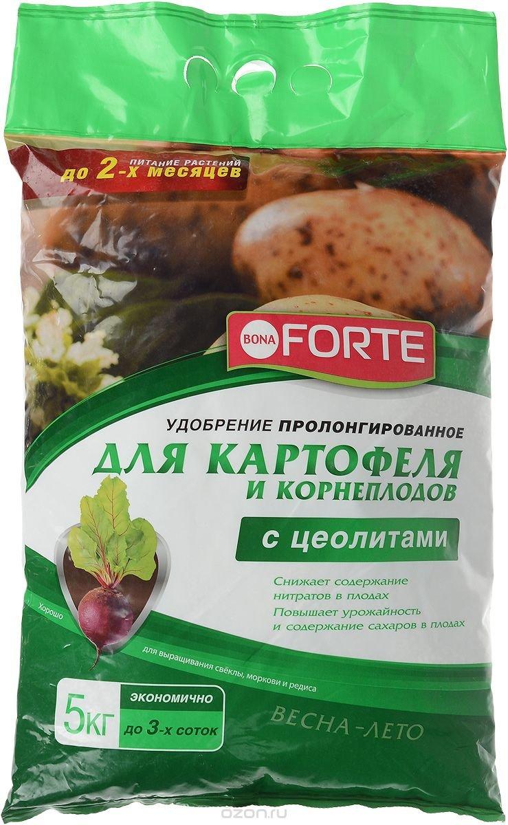 """Удобрение пролонгированное """"Bona Forte"""", для картофеля и корнеплодов, с цеолитом, 5 кг"""