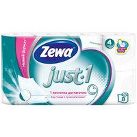 Туалетная бумага Zewa Just1 4 слоя, 8 рулонов
