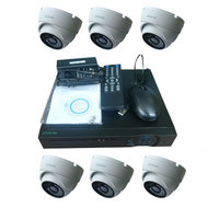 "Комплект видеонаблюдения ""Zodikam Combo Dome 6 POE"" (6 IP камер+регистратор)"