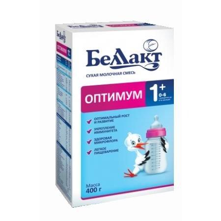 Молочная смесь Беллакт Оптимум 1+, с рождения, 400 гр.