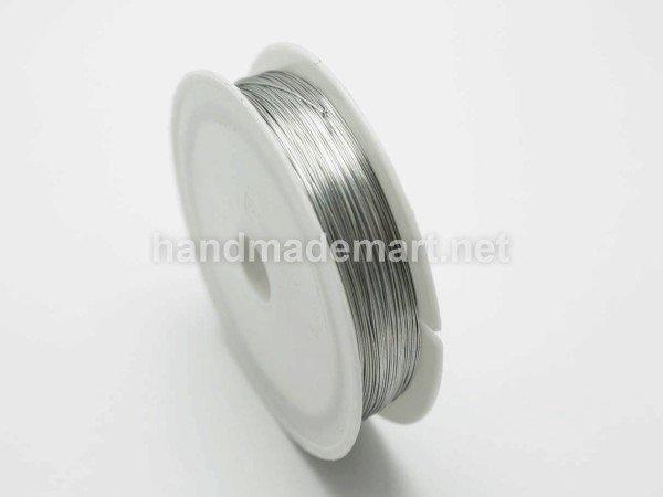 Проволока Железная, Диаметр 0,4 мм, Намотка 12 м, Серебристая