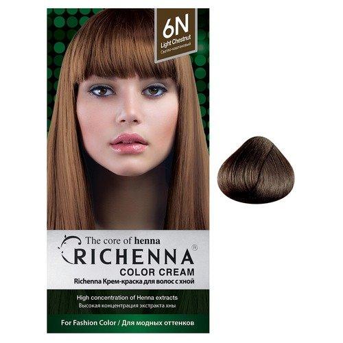 Крем-краска для волос с хной Dark Mahogany