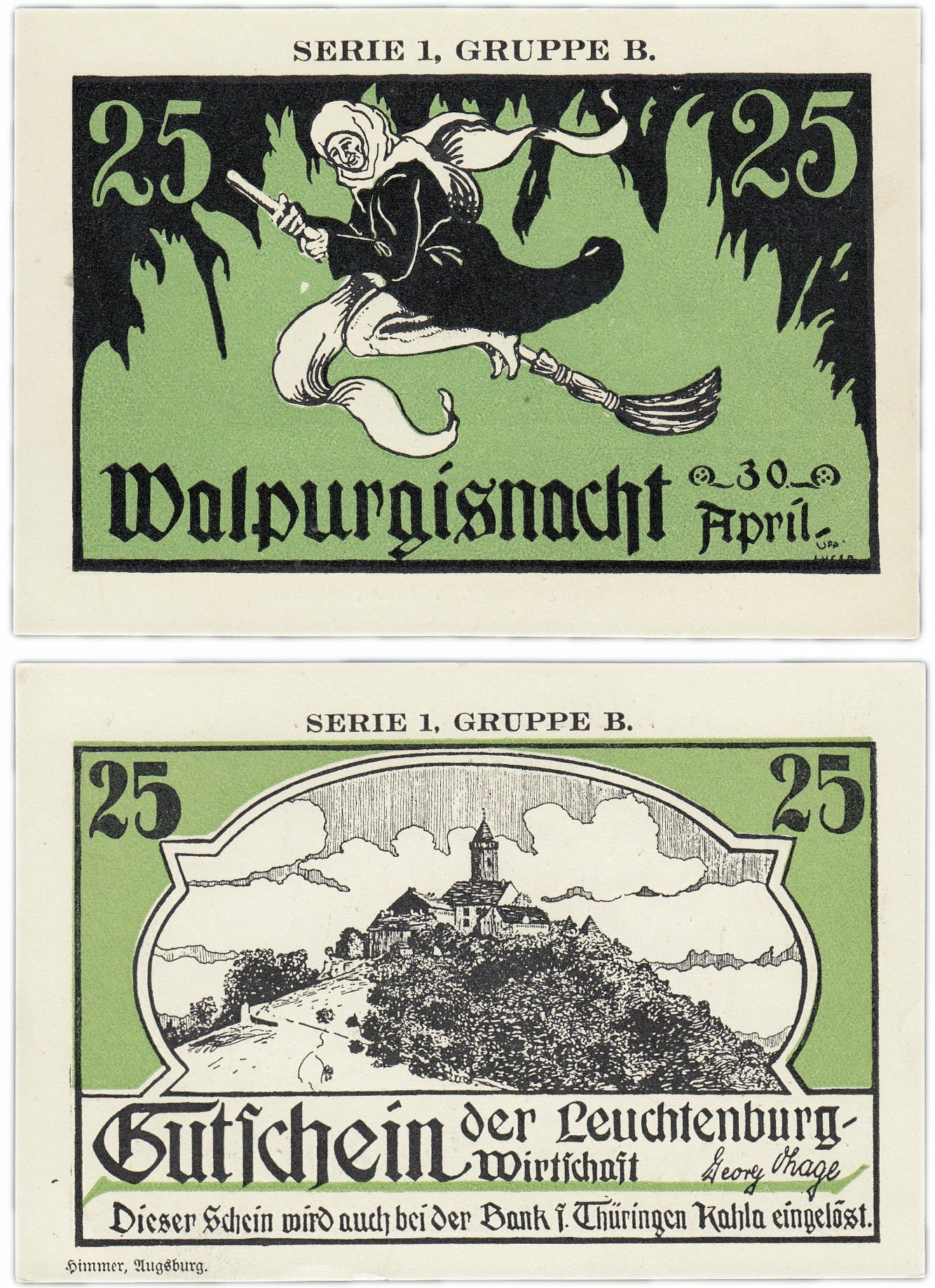 Банкнота Германия (Тюрингия: Кала) 25 пфеннигов 1920-21