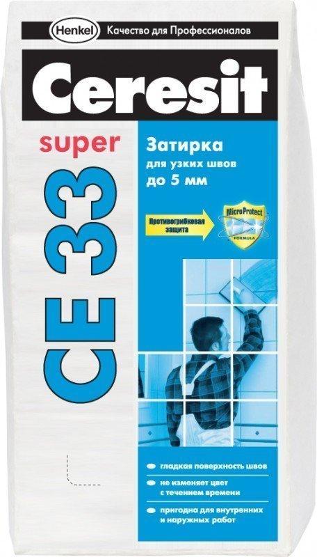 Затирка Ceresit СЕ 33 2-5мм 2,0кг св.-коричневая, противогрибковая 873876