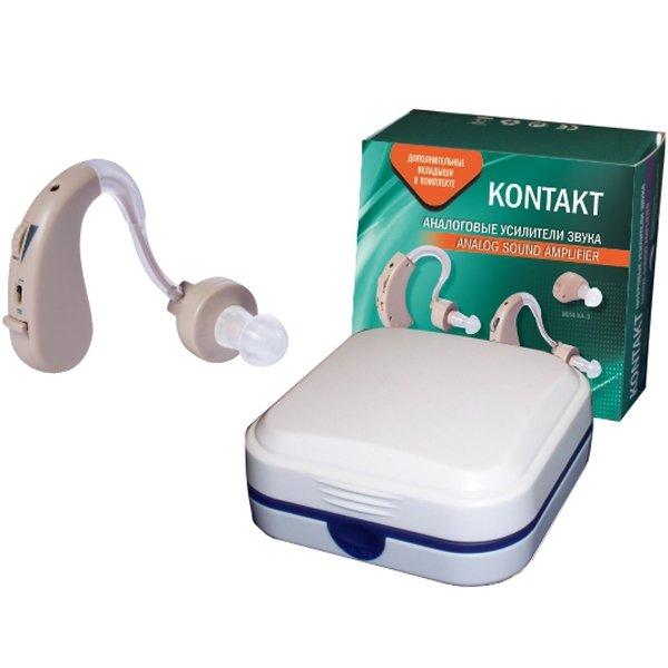 Слуховой аппарат аналоговый усилитель звука «KONTAKT» KA-2T