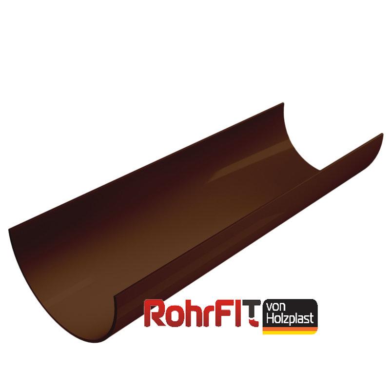 Водосточный желоб ROHRFIT темно-коричневый (ПВХ) (3м)