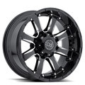 Колесный диск BLACK RHINO SIERRA Gloss Black Mirror Machine Cut Lip 9xR18 ET-12 8*165 D220 - фото 1