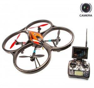 Квадрокоптеры с камерой Радиоуправляемый квадрокоптер WLToys V393 б/к система (FPV 5.8GHz) с 6-ти осевым гир. и подсветкой