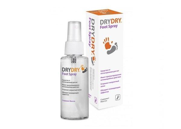 Средство от обильного потовыделения DRY DRY Foot Spray для ног, 100 мл
