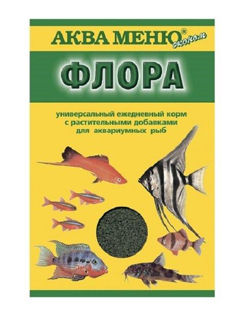 Корм для рыб с растительными добавками Аква Меню Эконом флора New (30 гр)