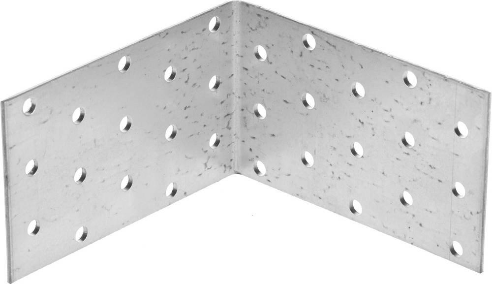 Крепежный угол равносторонний 60х100х100 мм 20 шт Зубр мастер 310205-060-100