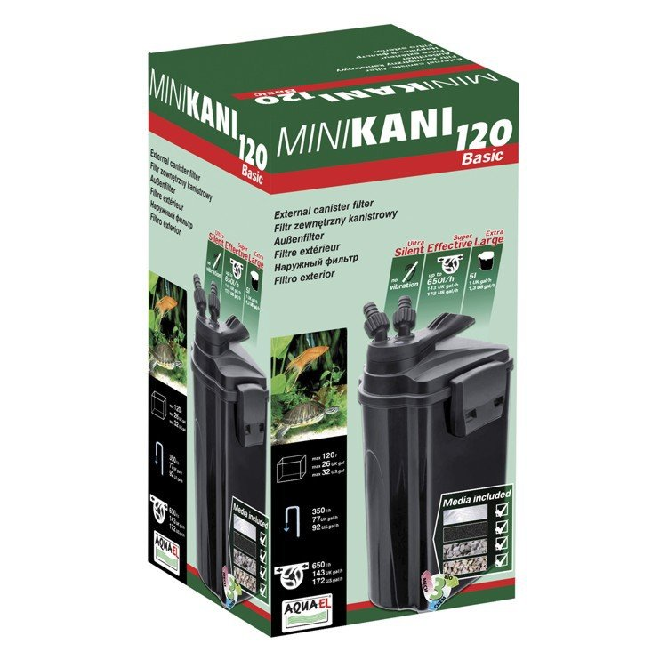Aquael MINIKANI 120 внешний фильтр для аквариумов и акватеррариумов до 120л