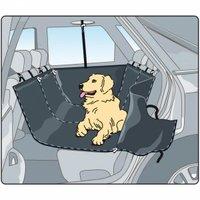 Накидка для перевозки собак в салоне (с защитой дверей), серая, 150 х 160 см