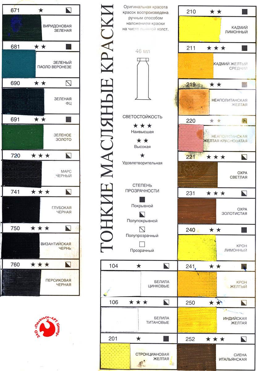 Краски масляные поштучно Подольск Арт-Центр Краска масляная для живописи №450 ван дик коричневый, туба 46мл