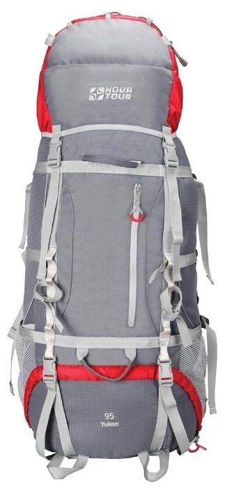 Рюкзак NOVA TOUR Юкон 95 V2, серый/красный