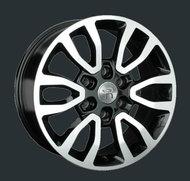 Диски Replay Replica Toyota TY175 7.5x18 6x139,7 ET25 ЦО106.1 цвет BKFP - фото 1