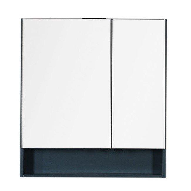 Aquanet Виго 80 00183362 зеркало, сине-серый
