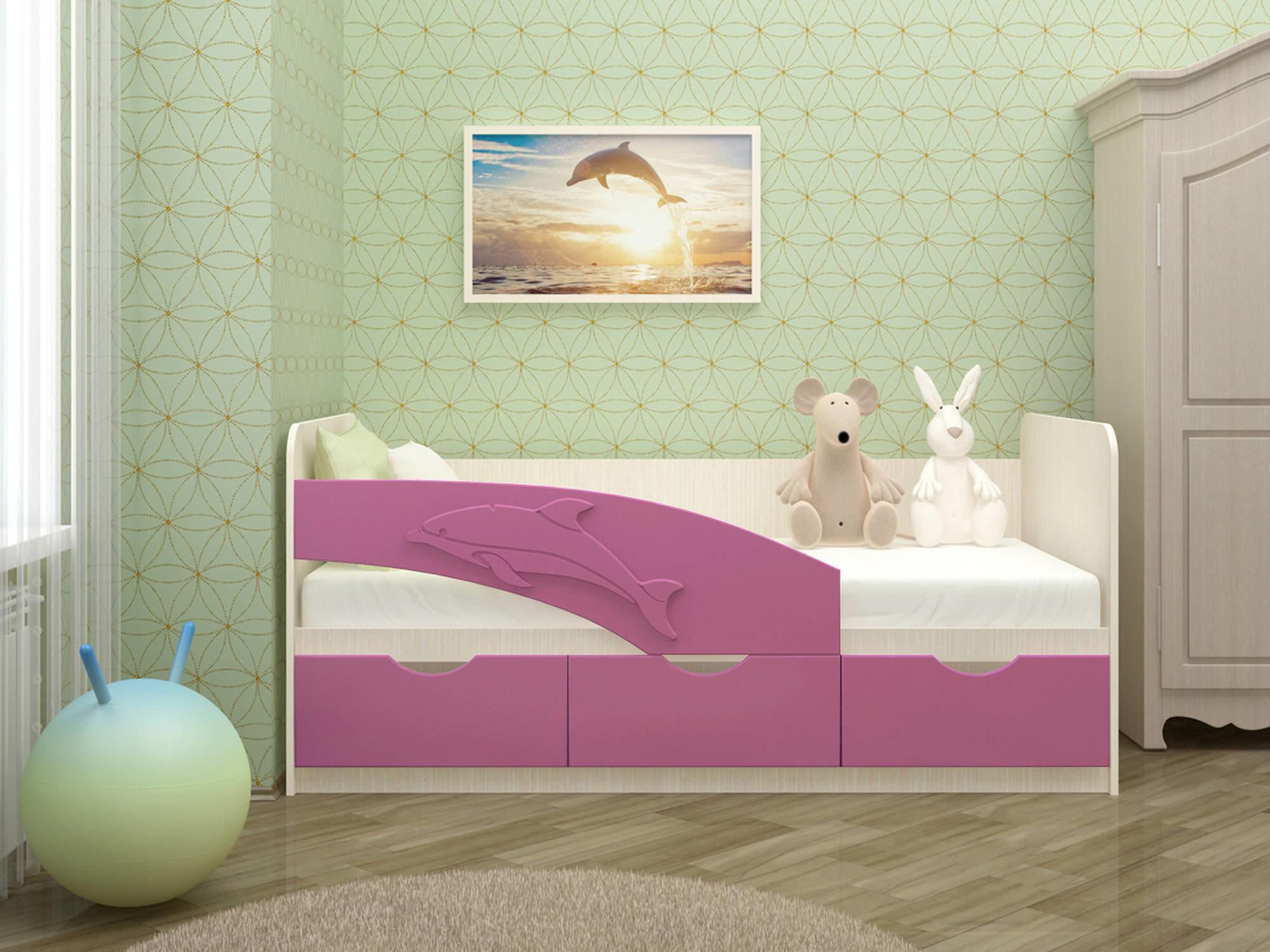 Детская кровать Дельфин (80х160)