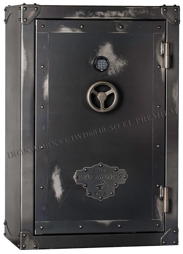 Элитный оружейный сейф Rhino Ironworks® CIWD6040-SO EL Premium (41 ствол)
