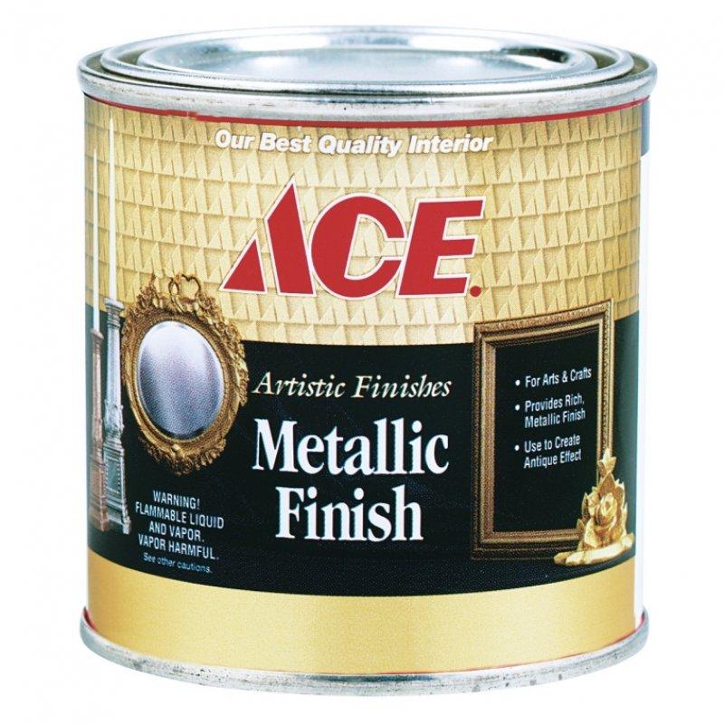 Декоративная краска Ace Paint металлик Metallic finishes серебро Chrome 0.5 питны (0,24л.)
