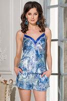 Изумрудно-синяя пижама