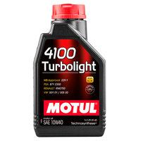 Моторное масло MOTUL 4100 Turbolight 10W40 Technosynt полусинтетическое масло, 1л MOTUL-4100-10W40-1L