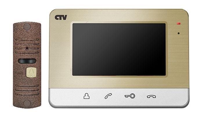 CTV-DP401 Комплект видеодомофона (Шампань)