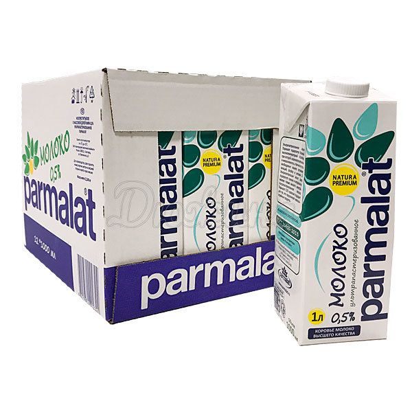 Молоко Parmalat ультрапастер 0,5% 1 л, Сет 12 шт