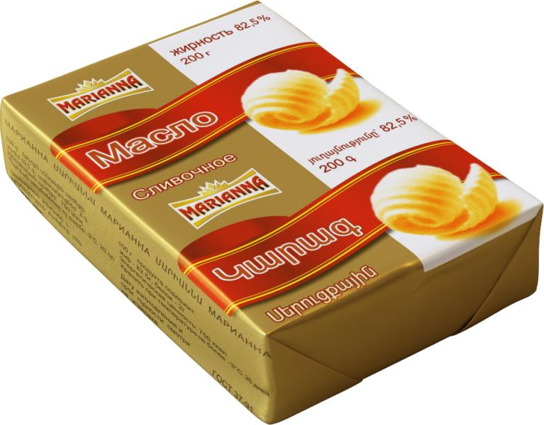 Масло сливочное 82,5% Марианна, 200г