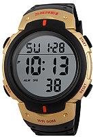Часы наручные мужские Skmei 1068-6 (черный/золотистый)