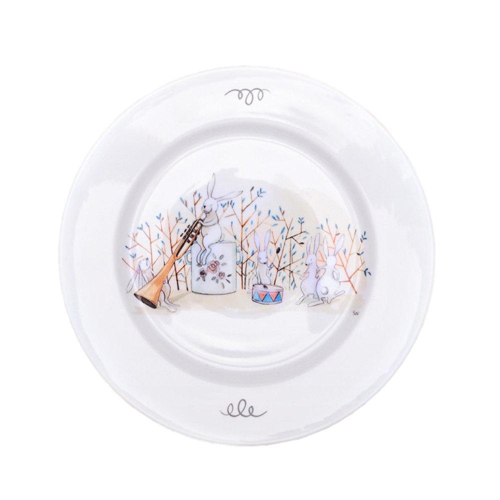 Тарелка Happyin Пляски Кролей 24 см Т-АКВ-09Б
