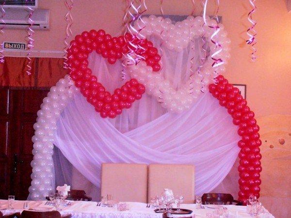 Арка из шаров на свадьбу, 1 м
