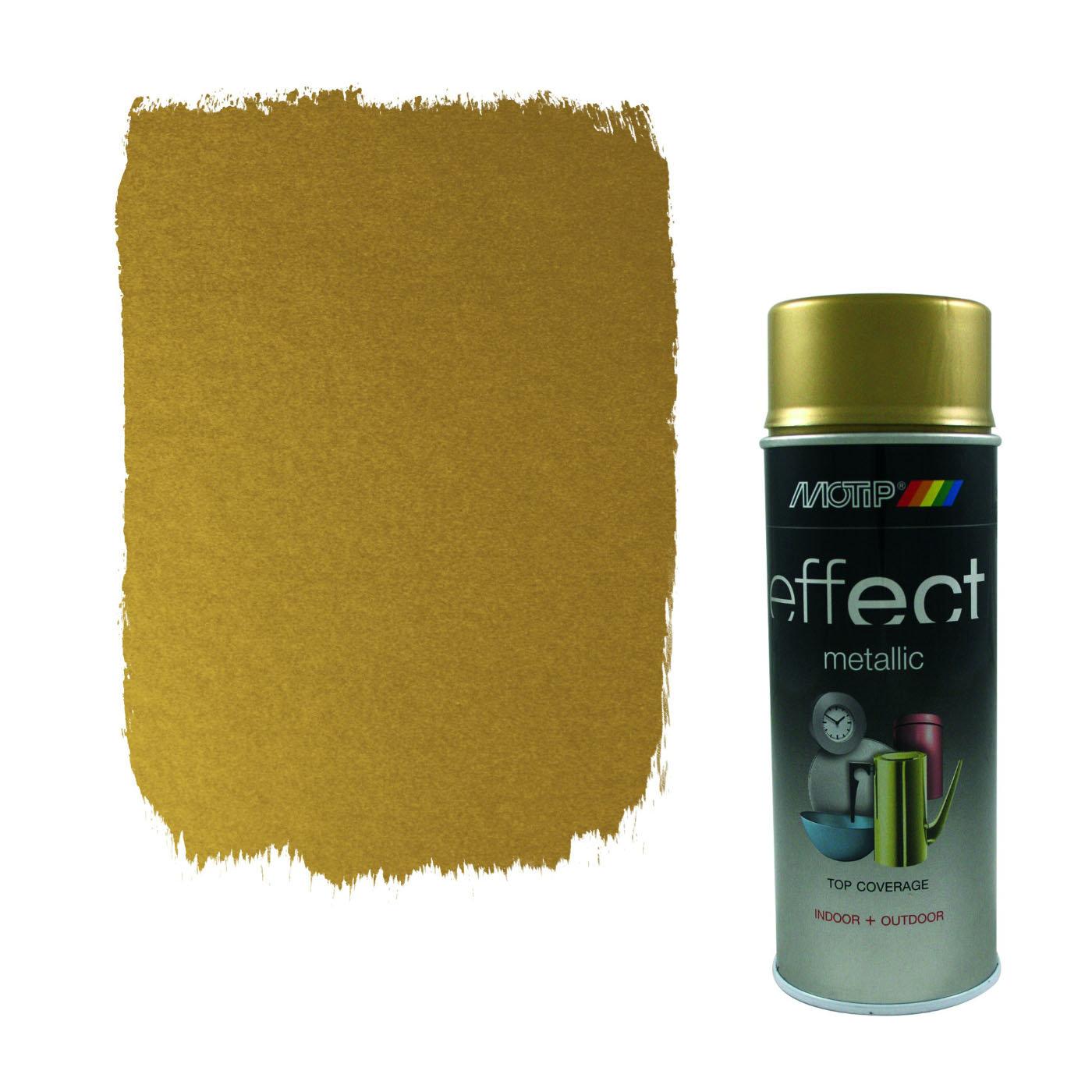 Краски универсальные MOTIP DUPLI B.V. Эмаль-аэрозоль MOTIP металлик золото бриллиантовое, 400мл