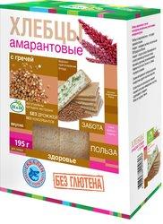 Хлебцы амарантовые DI&DI Di&Diс гречей, без глютена, изготовленные методом экструзии, 195г.