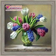 Алмазная вышивка «Букет полевых цветов» 50x55см