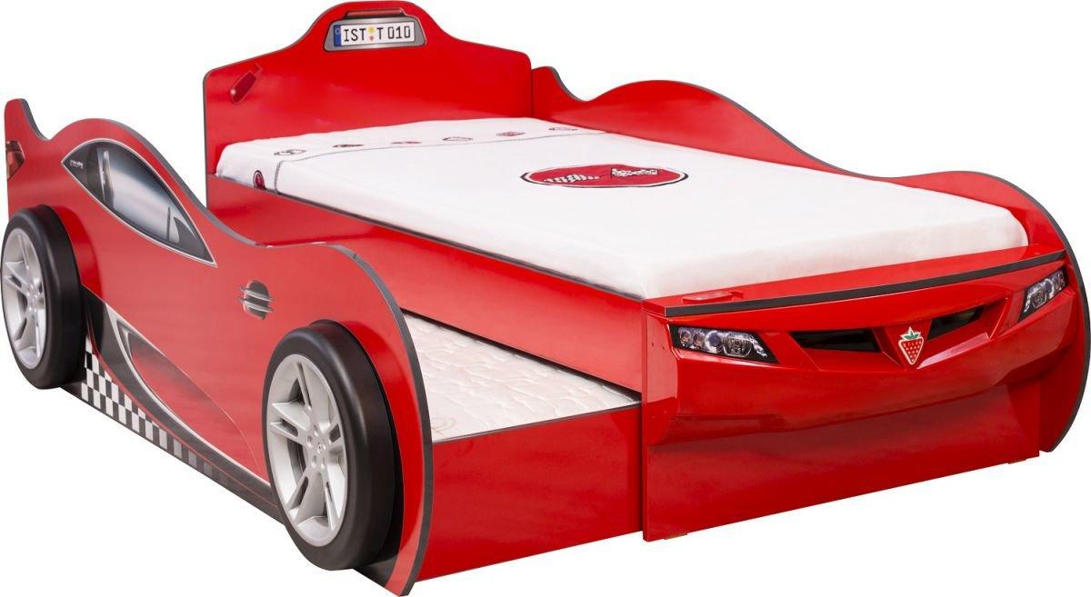 Cilek Детская кровать-машина COUPE с выдвижной кроватью (красная)