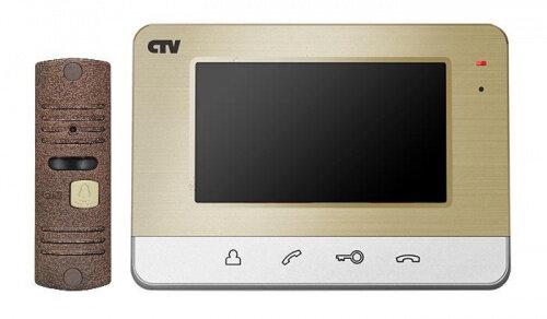Комплект видеодомофона CTV CTV-DP401 Шампань