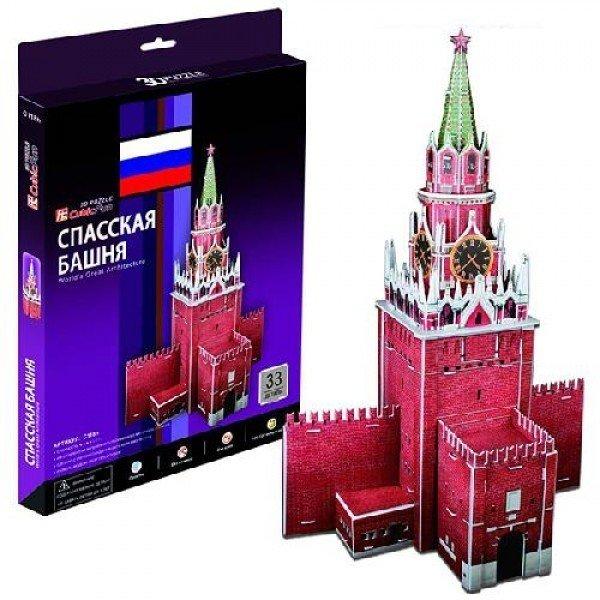 Объемный 3D пазл CubicFun C118h Спасская башня