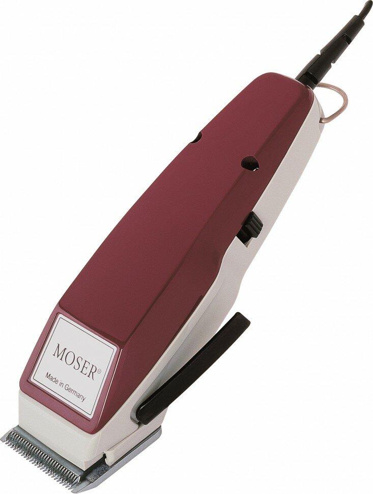 Профессиональная сетевая машинка для стрижки Moser 1400 Edition 1400-0051 бордовый с вибромотором + насадка 4-18 мм