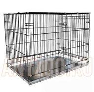 Клетки, вольеры для собак: Triol 004-К Yongli Триол Клетка для животных крашеная, металлический поддон выдвижной (эмаль) (упаковка 91.5*56*63.5см)