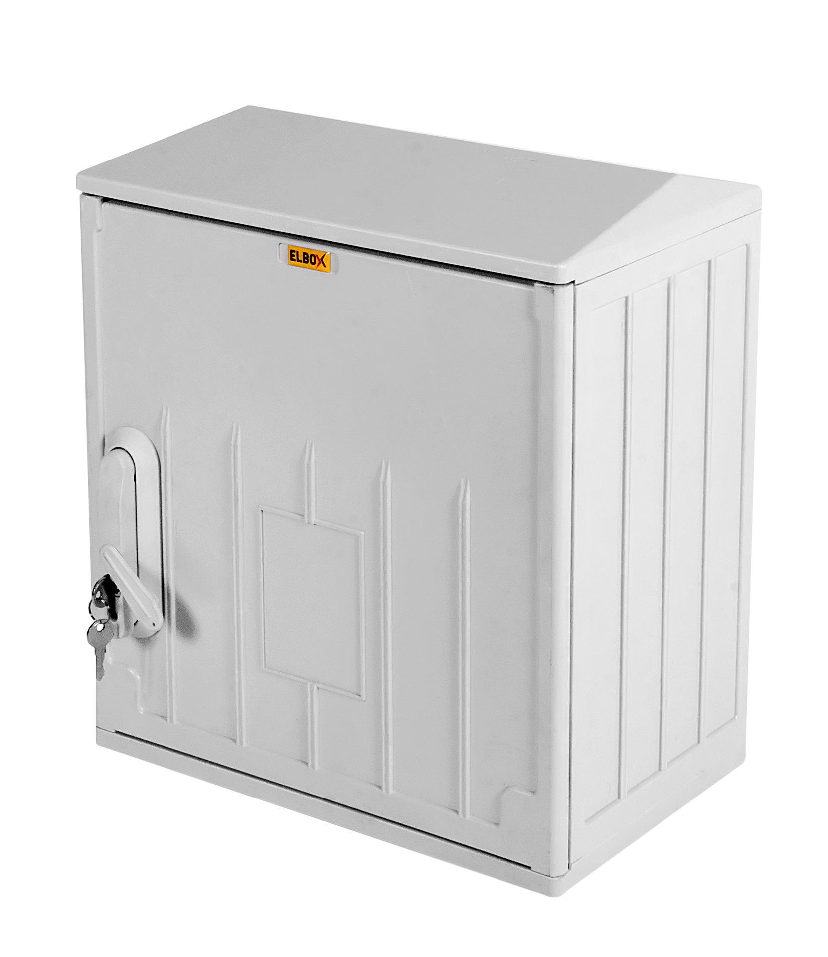 EPV-400.400.250-1-IP54 Шкаф электротехнический настенный Elbox EPV IP54 400х400х250 мм (ВхШхГ) дверь: сплошная корпус: полиэстер цвет: серый