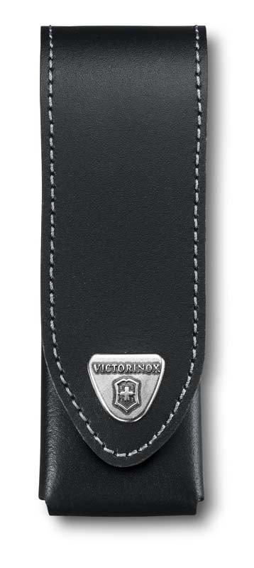 """Чехол на ремень """"Victorinox"""", для ножей 111 мм толщиной 3 уровня, кожаный, черный"""