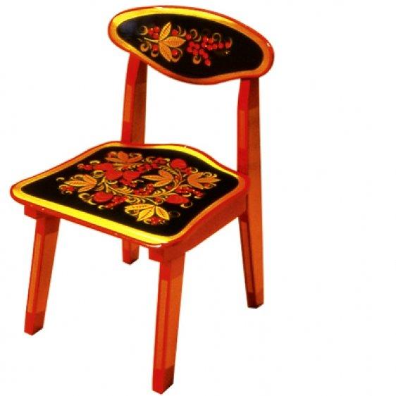 Деревянный стульчик хохлома