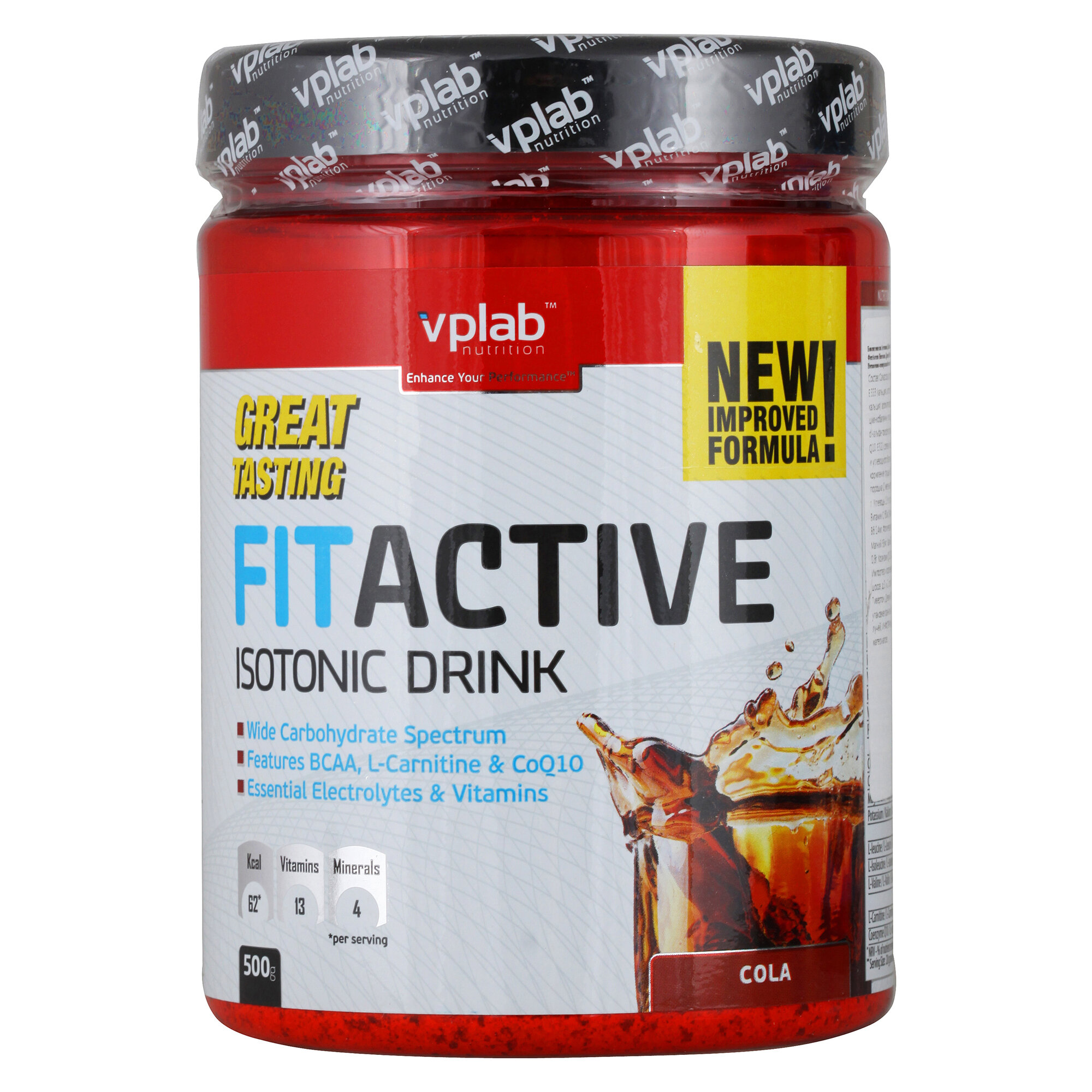 VP Laboratory FitActive Isotonic Drink, 500 г, вкус: кола