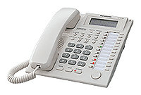 Panasonic KX-T7735RU (системный телефон с ЖКД, 24 клавиш, белый)