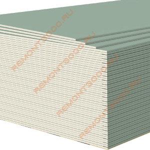 ВОЛМА ГКЛВ Гипсокартон влагостойкий 2500х1200х9,5мм (3,0м2) / ВОЛМА ГКЛВ Гипсокартонный лист влагостойкий 2500х1200х9,5мм (3,0 кв.м.)