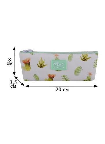 Пенал на молнии Кактусы и Растения (ткань) (20х8) (LG-10950)