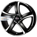 Диск Alutec Shark 7,5x17/5x114,3 ЕТ38 D70,1 Racing black front polished - фото 1